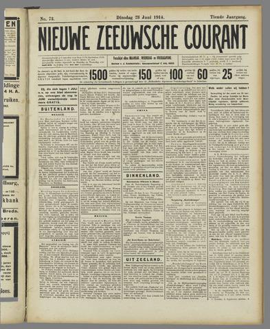 Nieuwe Zeeuwsche Courant 1914-06-23