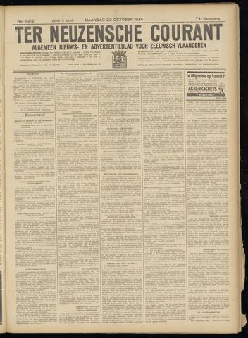 Ter Neuzensche Courant. Algemeen Nieuws- en Advertentieblad voor Zeeuwsch-Vlaanderen / Neuzensche Courant ... (idem) / (Algemeen) nieuws en advertentieblad voor Zeeuwsch-Vlaanderen 1934-10-22