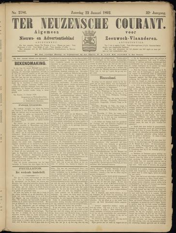 Ter Neuzensche Courant. Algemeen Nieuws- en Advertentieblad voor Zeeuwsch-Vlaanderen / Neuzensche Courant ... (idem) / (Algemeen) nieuws en advertentieblad voor Zeeuwsch-Vlaanderen 1892-01-23