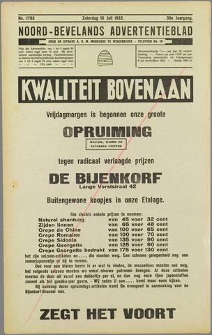 Noord-Bevelands Nieuws- en advertentieblad 1932-07-16