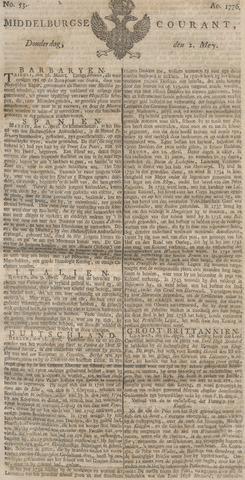 Middelburgsche Courant 1776-05-02