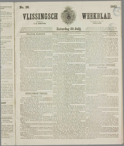 Vlissings Weekblad 1863-07-25
