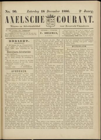 Axelsche Courant 1886-12-18