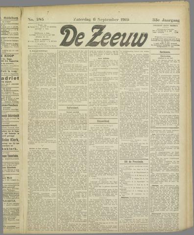 De Zeeuw. Christelijk-historisch nieuwsblad voor Zeeland 1919-09-06