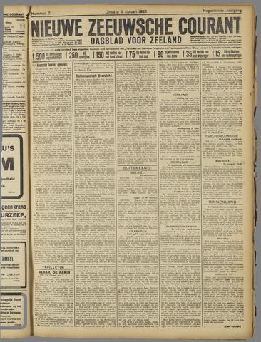 Nieuwe Zeeuwsche Courant 1923-01-09