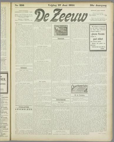 De Zeeuw. Christelijk-historisch nieuwsblad voor Zeeland 1924-06-27