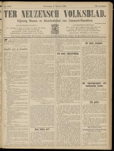 Ter Neuzensch Volksblad. Vrijzinnig nieuws- en advertentieblad voor Zeeuwsch- Vlaanderen / Zeeuwsch Nieuwsblad. Nieuws- en advertentieblad voor Zeeland 1911-10-11