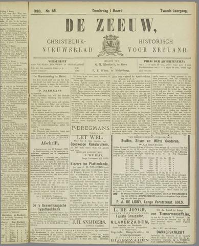 De Zeeuw. Christelijk-historisch nieuwsblad voor Zeeland 1888-03-01