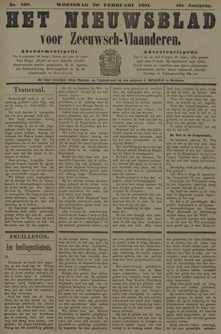 Nieuwsblad voor Zeeuwsch-Vlaanderen 1901-02-20