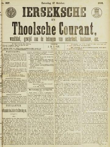 Ierseksche en Thoolsche Courant 1891-10-17