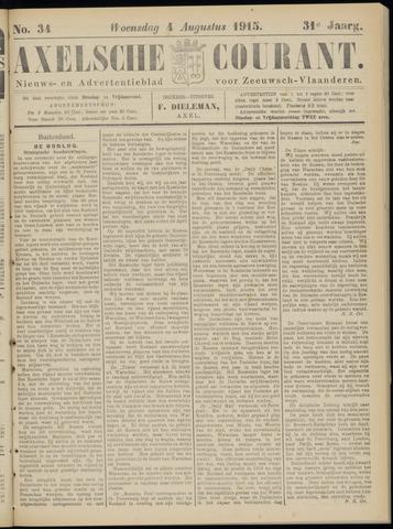 Axelsche Courant 1915-08-04