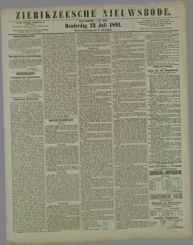 Zierikzeesche Nieuwsbode 1891-07-23