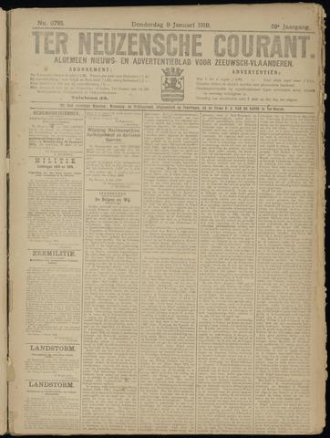 Ter Neuzensche Courant. Algemeen Nieuws- en Advertentieblad voor Zeeuwsch-Vlaanderen / Neuzensche Courant ... (idem) / (Algemeen) nieuws en advertentieblad voor Zeeuwsch-Vlaanderen 1919-01-09
