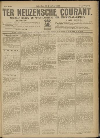 Ter Neuzensche Courant. Algemeen Nieuws- en Advertentieblad voor Zeeuwsch-Vlaanderen / Neuzensche Courant ... (idem) / (Algemeen) nieuws en advertentieblad voor Zeeuwsch-Vlaanderen 1914-10-24