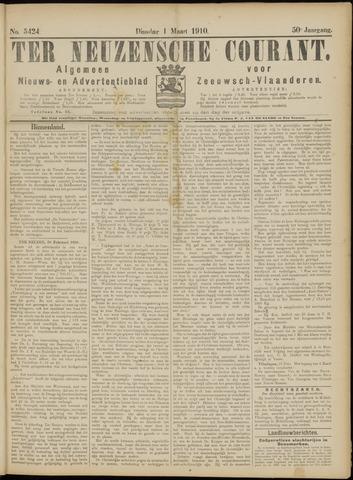 Ter Neuzensche Courant. Algemeen Nieuws- en Advertentieblad voor Zeeuwsch-Vlaanderen / Neuzensche Courant ... (idem) / (Algemeen) nieuws en advertentieblad voor Zeeuwsch-Vlaanderen 1910-03-01