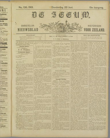 De Zeeuw. Christelijk-historisch nieuwsblad voor Zeeland 1901-06-20