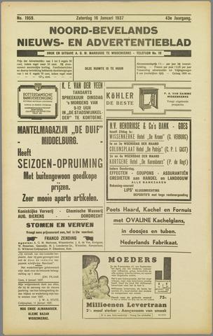 Noord-Bevelands Nieuws- en advertentieblad 1937-01-16