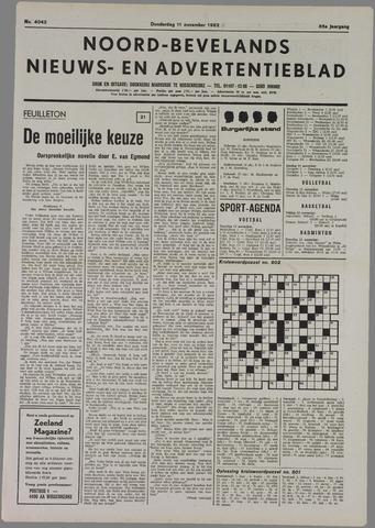 Noord-Bevelands Nieuws- en advertentieblad 1982-11-11