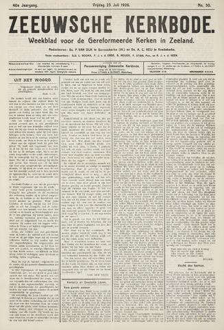 Zeeuwsche kerkbode, weekblad gewijd aan de belangen der gereformeerde kerken/ Zeeuwsch kerkblad 1926-07-23