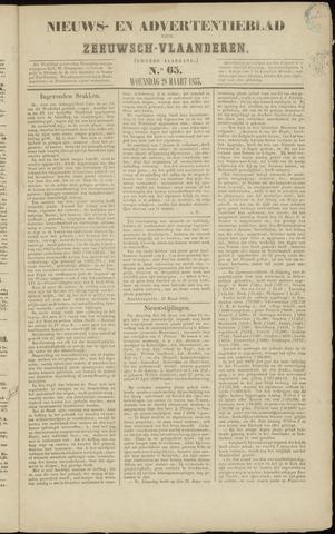 Ter Neuzensche Courant. Algemeen Nieuws- en Advertentieblad voor Zeeuwsch-Vlaanderen / Neuzensche Courant ... (idem) / (Algemeen) nieuws en advertentieblad voor Zeeuwsch-Vlaanderen 1855-03-28