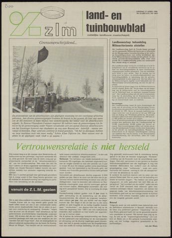 Zeeuwsch landbouwblad ... ZLM land- en tuinbouwblad 1990-04-27