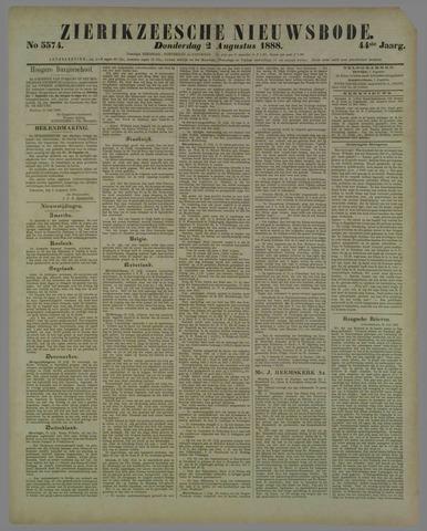Zierikzeesche Nieuwsbode 1888-08-02