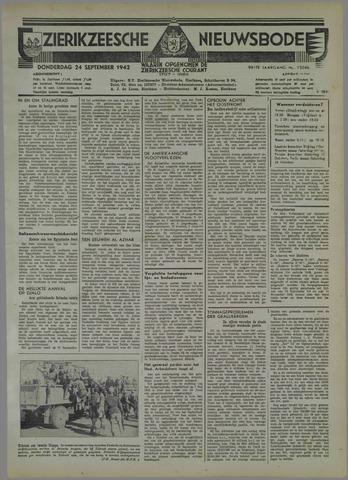 Zierikzeesche Nieuwsbode 1942-09-24