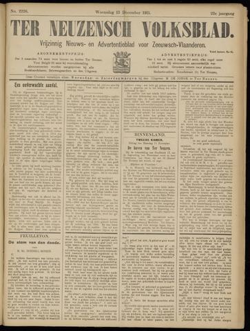 Ter Neuzensch Volksblad. Vrijzinnig nieuws- en advertentieblad voor Zeeuwsch- Vlaanderen / Zeeuwsch Nieuwsblad. Nieuws- en advertentieblad voor Zeeland 1911-12-13