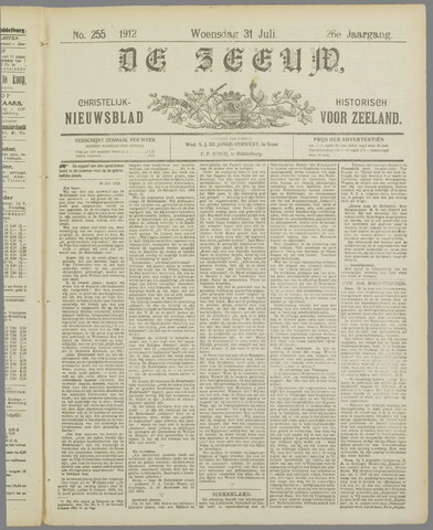 De Zeeuw. Christelijk-historisch nieuwsblad voor Zeeland 1912-07-31