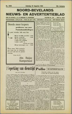 Noord-Bevelands Nieuws- en advertentieblad 1952-08-23