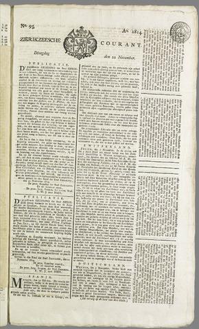 Zierikzeesche Courant 1814-11-22
