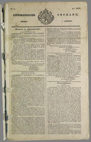 Zierikzeesche Courant 1847