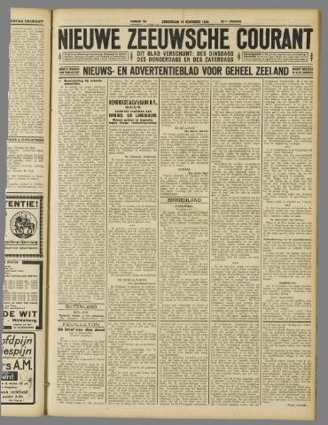 Nieuwe Zeeuwsche Courant 1929-11-14