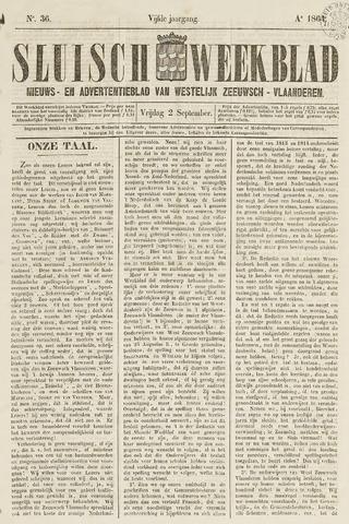 Sluisch Weekblad. Nieuws- en advertentieblad voor Westelijk Zeeuwsch-Vlaanderen 1864-09-02