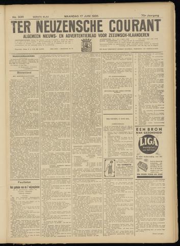 Ter Neuzensche Courant. Algemeen Nieuws- en Advertentieblad voor Zeeuwsch-Vlaanderen / Neuzensche Courant ... (idem) / (Algemeen) nieuws en advertentieblad voor Zeeuwsch-Vlaanderen 1935-06-17