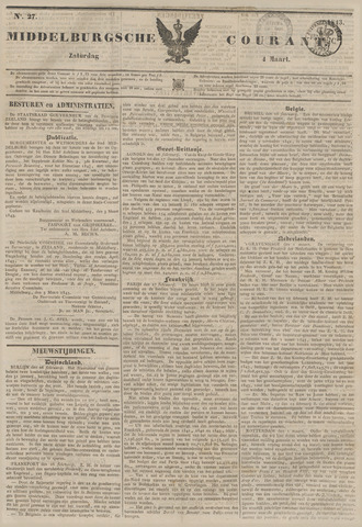 Middelburgsche Courant 1843-03-04