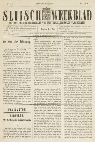 Sluisch Weekblad. Nieuws- en advertentieblad voor Westelijk Zeeuwsch-Vlaanderen 1874-07-24