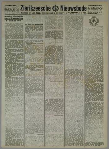 Zierikzeesche Nieuwsbode 1930-07-21