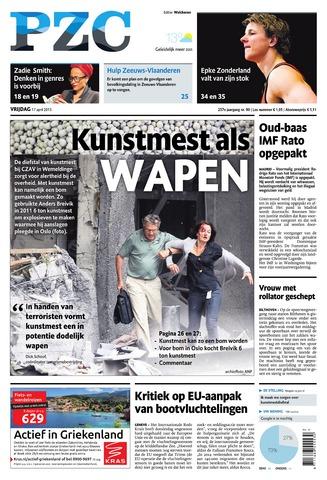 Provinciale Zeeuwse Courant 2015-04-17