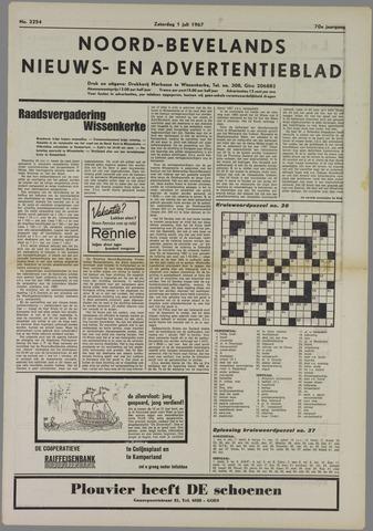 Noord-Bevelands Nieuws- en advertentieblad 1967-07-01