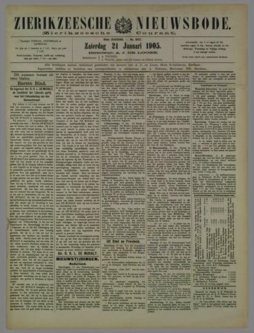 Zierikzeesche Nieuwsbode 1905-01-21