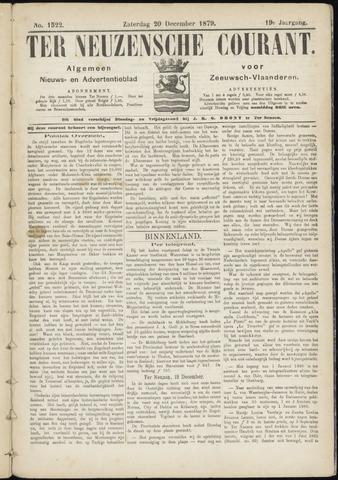 Ter Neuzensche Courant. Algemeen Nieuws- en Advertentieblad voor Zeeuwsch-Vlaanderen / Neuzensche Courant ... (idem) / (Algemeen) nieuws en advertentieblad voor Zeeuwsch-Vlaanderen 1879-12-20