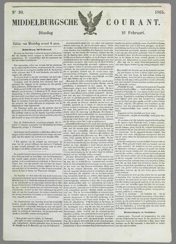 Middelburgsche Courant 1865-02-21