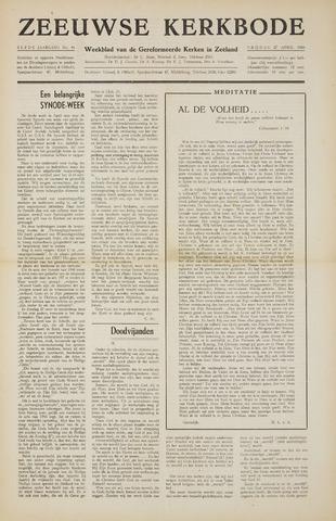 Zeeuwsche kerkbode, weekblad gewijd aan de belangen der gereformeerde kerken/ Zeeuwsch kerkblad 1956-04-27