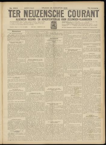 Ter Neuzensche Courant. Algemeen Nieuws- en Advertentieblad voor Zeeuwsch-Vlaanderen / Neuzensche Courant ... (idem) / (Algemeen) nieuws en advertentieblad voor Zeeuwsch-Vlaanderen 1938-08-26