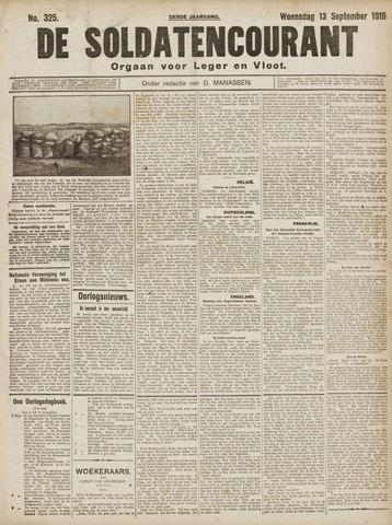 De Soldatencourant. Orgaan voor Leger en Vloot 1916-09-13