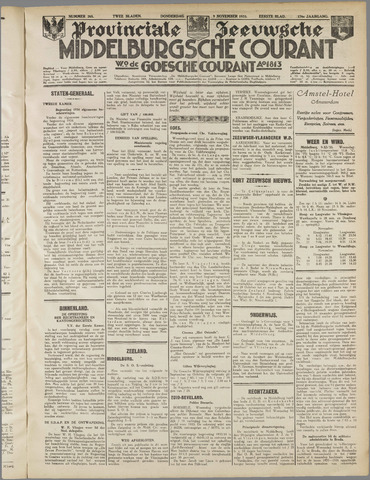 Middelburgsche Courant 1933-11-09