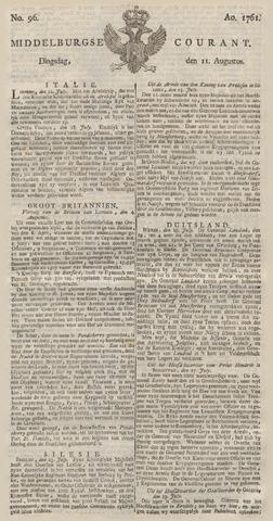 Middelburgsche Courant 1761-08-11