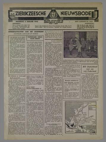 Zierikzeesche Nieuwsbode 1942-01-05