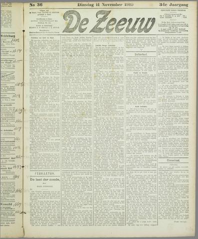 De Zeeuw. Christelijk-historisch nieuwsblad voor Zeeland 1919-11-11